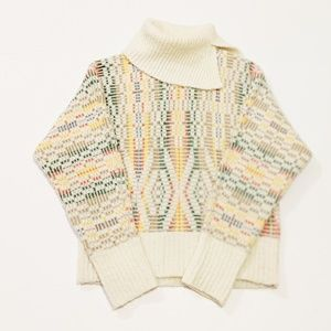 Anthropologie Sleeping on Snow Aztec Print Sweater